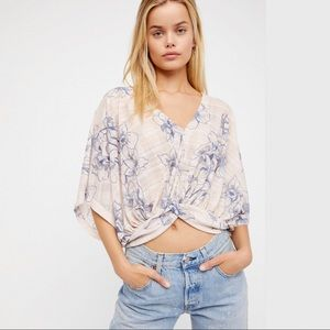 FREE PEOPLE OneDance's Printed Top NWT